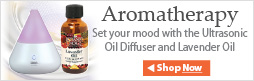 Aromatherapy, set your mood with a diffuser and our essential oils